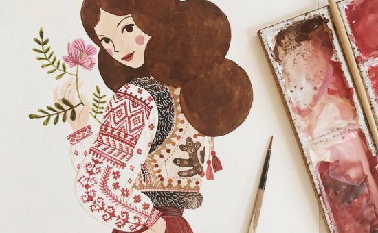 """Oana Befort – """"Ilustrațiile mele vin din dragostea pe care o am față de natură și folclor"""""""